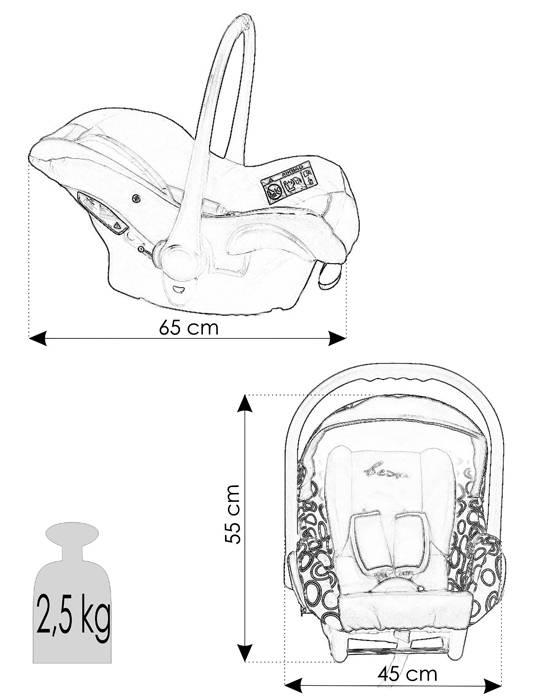 Dane techniczne fotelika