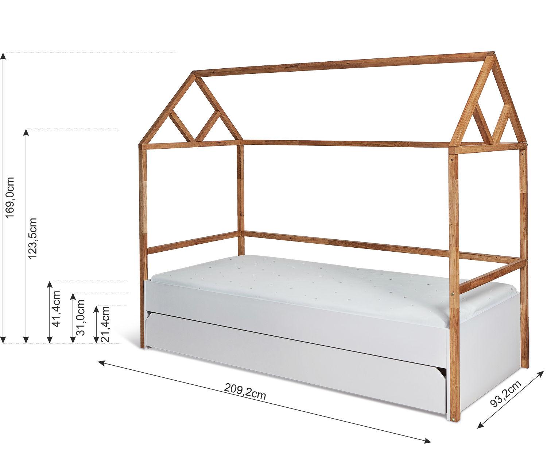 Bellamy Lotta łóżko Domek 90x200 Cm Z Szufladą