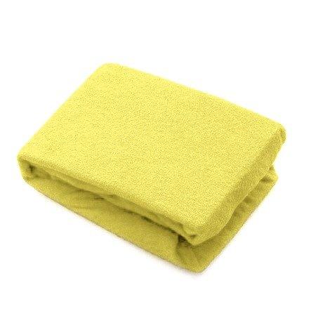 Prześcieradło Frotte żółte Na Materacyk Do łóżeczka 120x60 Cm