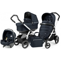 Peg Perego BOOK 51 S POP-UP Completo Modular LUXE BLUE NIGHT na stelażu WHITE BLACK