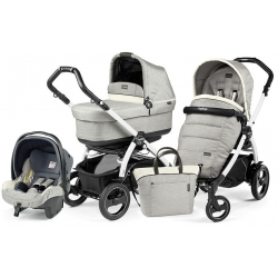 Peg Perego BOOK 51 S POP-UP Completo Modular LUXE OPAL na stelażu WHITE BLACK
