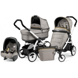 Peg Perego BOOK 51 POP-UP Completo Modular LUXE GREY na stelażu WHITE BLACK