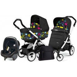 Peg Perego BOOK 51 POP-UP Completo Modular MANRI na stelażu WHITE BLACK
