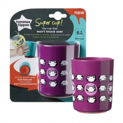 Tommee Tippee kubek SUPER CUP 190 ml 6m+ fioletowy