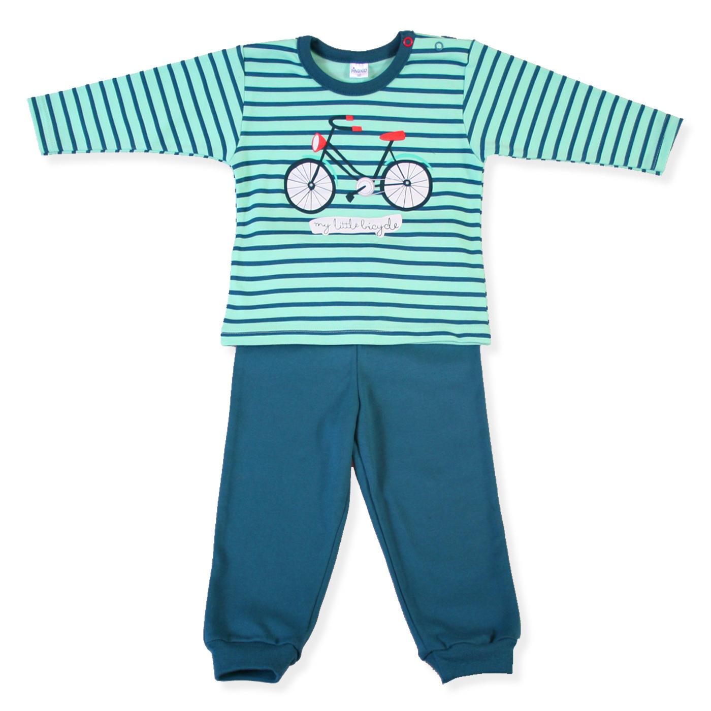 b9d726af6cbb01 Pinokio piżama BIKE w paski rozmiary 80-122 cm