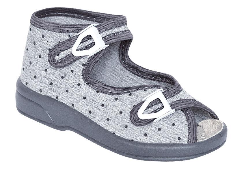 e0f0e60fc33e ZETPOL buciki dziecięce ŁUCJA szara rozmiary 18-27 obuwie dziecięce  zapinane na klamerkę